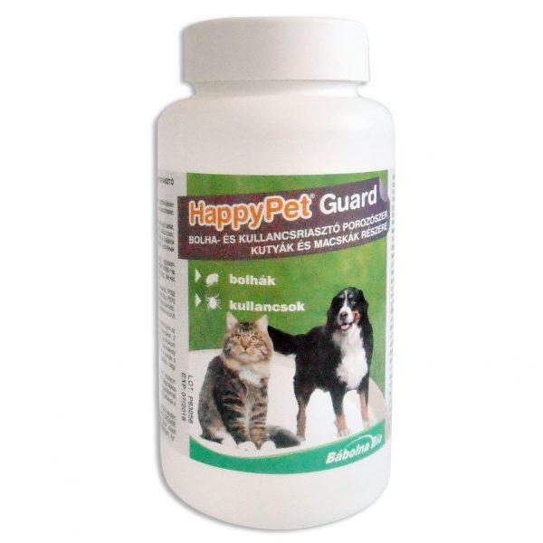 HappyPet Guard bolha,-és kullancsriasztó porozószer kutyák és macskák részére