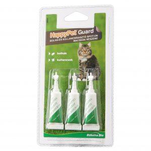 HappyPet Guard Spot-on macskáknak, kullancs,-bolhariasztó