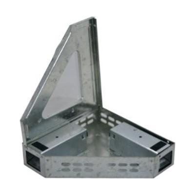 Sarokba illeszthető fém egérfogó 2 bejárattal